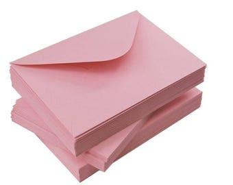 Pink Envelopes   Set of 50   120g   Pink Envelopes   C6 or DL