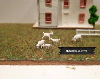 Miniature scale 1: 144 goat (one unit), micro miniature dollhouse