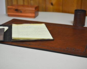 products barn pottery blotter envelope saddle tray leather chocolate c desk