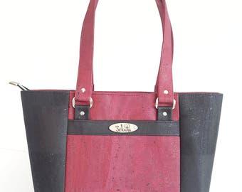 Tote bag VEGAN Cork. Vegetable fabrics. To order 100% custom creation.