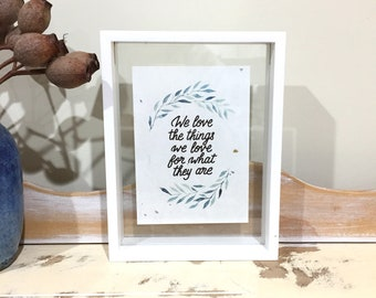 We love - small frame