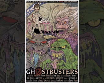 No Ghosts Print // Movie Poster // Poster Art // Horror // Ghost // Sci Fi // Monsters // Slimer // Stay Puft // Ghostbusters // Bill Murray