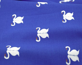 Fat Quarter Sale! - Sommer Swan in Blueberry - from the Sommer Collection by Sarah Jane for Michael Miller Fabrics