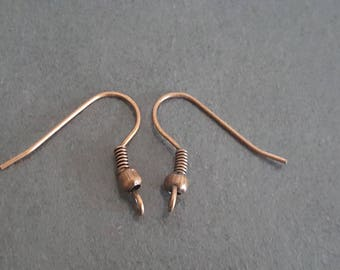 copper ear hooks 50 pair 18 x 21 mm, support hooks earrings