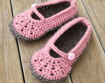 Download Now - CROCHET PATTERN Youth Crochet Basics Mary Janes Slippers - Pattern PDF
