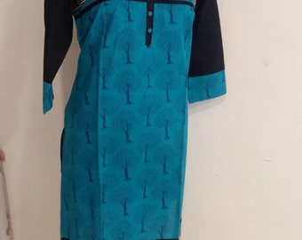 Size XXL/44 - Cotton Kurti / Designer Dress