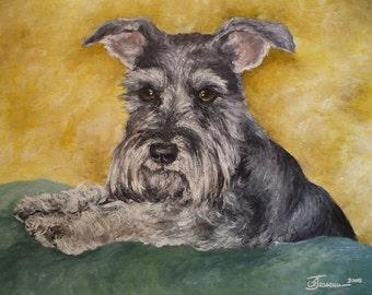 "PET PORTRAIT - Custom Painting in Acrylics or Pastel- Original Dog Art 20"" x 24"""