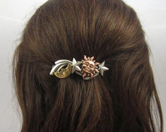 CELESTIAL French Barrette 70mm- Celestial Jewelry- Hair Barrette- French Clip
