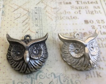 Hand Cast Pewter Owl Pendant Made in USA  Choice of Finish