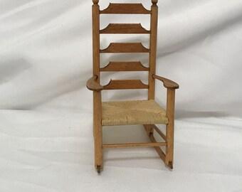 "Dollhouse Miniature  1"" scale Rocking Chair 1995"