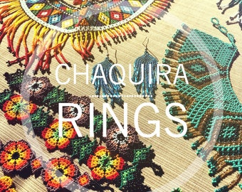 Chaquira Beaded Rings