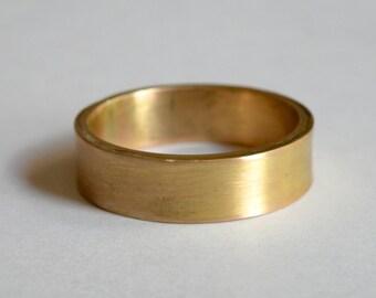 Rustic handmade 14 K gold band - custom one of a kind wedding band
