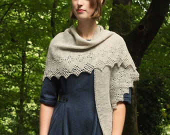 Rhien shawl PDF knitting pattern