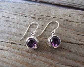Amethys earring handmade in sterling silver
