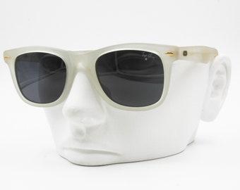 Opaque Semitransparent Wayfarer Sunglasses TOP GUN made in Italy, Vintage New Old Stock 1980s