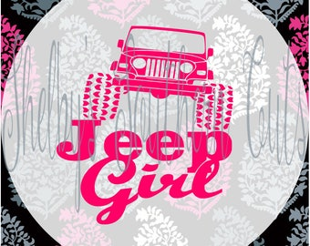 Jeep Girl - svg eps dxf png pdf