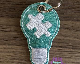Light It up blue keychains