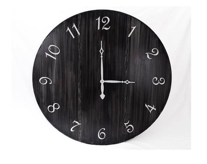 """48"""" Wall Clock, Custom Wall Clock, Large Wall Clock, Oversized Wall Clock, Black Wall Clock, Modern Wall Clock, Rustic Wall Clock"""