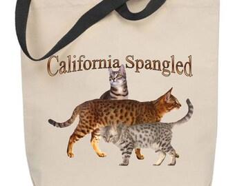California Spangled Cat Tote Bag