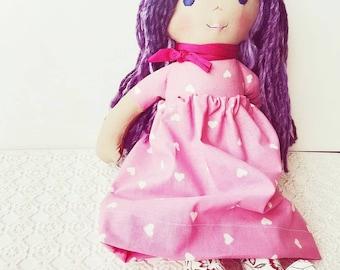 AMÉLIE, doll, handmade doll, hand made doll, doll, personalized doll, cloth Doll rag doll, doll fabric, rag doll, art rag Doll