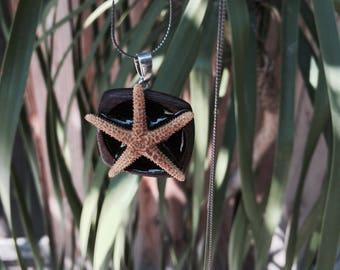 Starfish wooden pendant