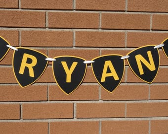 Personalized Name Banner, Custom Name Gift, Lamborghini, Kids Room Decoration, Birthday Decor, Photo Props, Lambo Banner, Personalised Gift