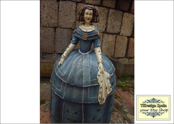 Menina figura, Menina estilo vintage, Figura menina comprar, Figura menina para decorar, Figura de Menina 33 cm, Menina decorativa comprar