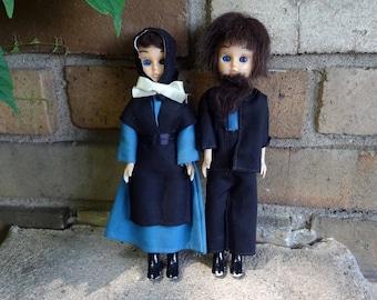 Amish Couple Dolls // Open Close Eyes // Boy Girl Doll Set