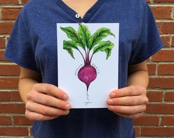 Nothing Beets You 5x7 Watercolor Print