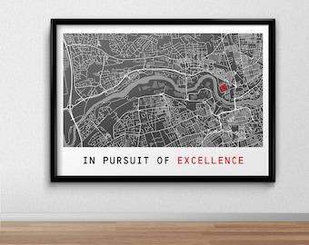 Sunderland Football Poster, Football Poster, Football Print, gift, Map Print,  Present