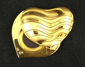 Rare vintage Estee Lauder Beautiful heart solid perfume compact - empty