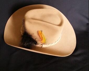 Stetson Cowboy Hat Vintage Size 7 3/4