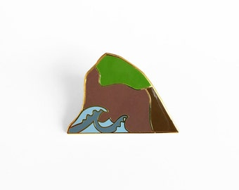Sea Rock Enamel Pin - Haystack Rock Canon Beach Oregon