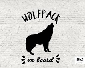 Wolf Pack On Board, Wolfpack on board, baby on board, car decal, car sticker