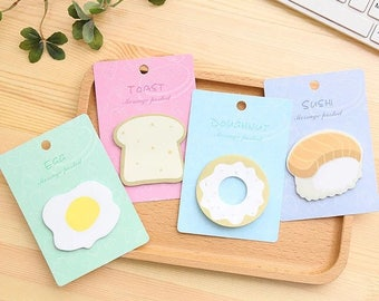 Quirky, egg or toast, sticky / post it note pads