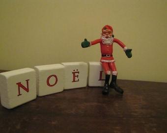 Vintage Rubber Santa Claus Flexible Santa Claus Vintage Santa Claus Figurine