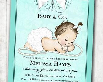 Baby Shower Invitation for baby girl baby shower - DIY Printable