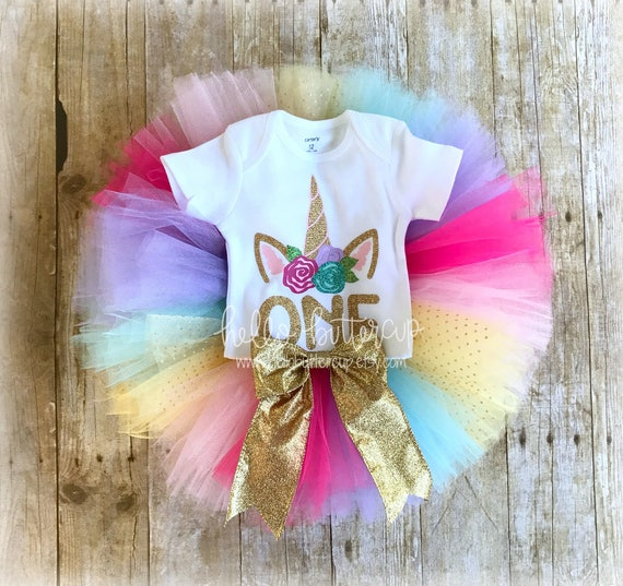 1st Birthday Unicorn Outfit Rainbow Unicorn First Birthday