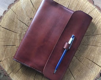 Leather Notebook,Leather Notepad Cover,Leather Notebook Cover, Leather Journal Cover,Leather Hobonichi Cover A5, a5 leather diary cover