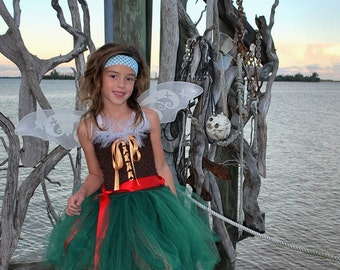 Pirate Fairy Tutu Dress - Pirate Fairy Costume - Pixie Fairy - Fairy Costume - Pirate tutu dress - Pirate tutu - Pirate Costume
