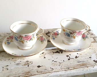 Sweet set of vintage bone china cup and saucer 'floral'