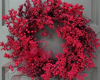 Very Red Berry Wreath