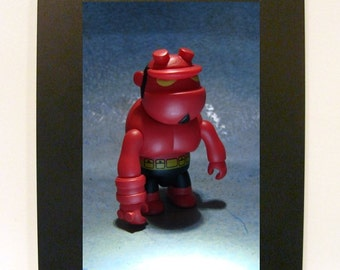 "Framed Hellboy Toy Photograph 5"" x 7"""