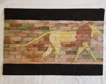 Lion of Babylon - Original Watercolor Painting