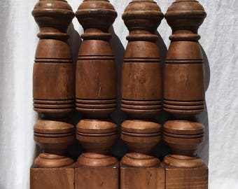 Set of 4 Antique Wood Farmhouse Table Legs