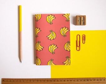 A6 Notebook / Banana Notebook / Fruity Stationery / Pocket Notebook / Cute Stationery / Small Notebook