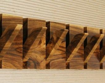 Wall mounted wooden coat rack, 8 hooks coat hanger, wood wall art, wooden coat hanger, modern coat rack, wall coat hanger, wooden coat hooks