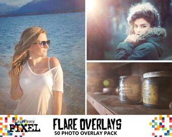 SUN FLARE Photoshop OVERLAYS, photoshop overlays, sunlight overlays, sunflare overlays, flares overlays, bokeh overlays, solar flare, light