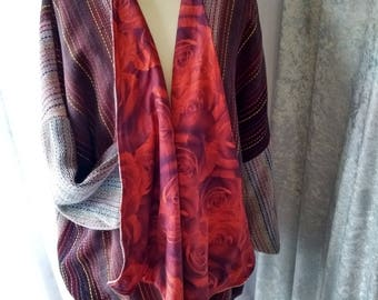 Handwoven Fabric Swing Jacket
