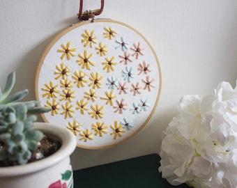 Wildflower Embroidery Hoop Wall Art Decor